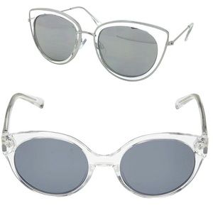 Cole Haan Gray/Crystal Clear Polarized Sunglasses